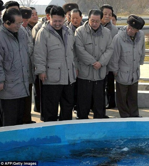 kim jong un looking at fish