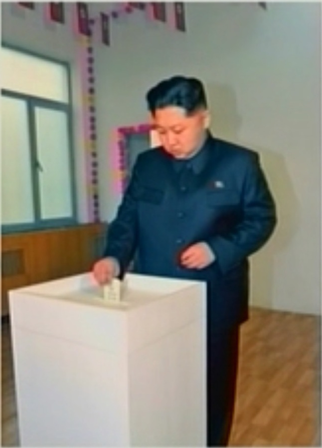 Kim Jong Casting his vote