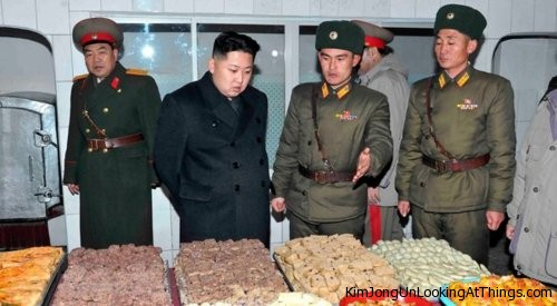 kim jong un looking at food