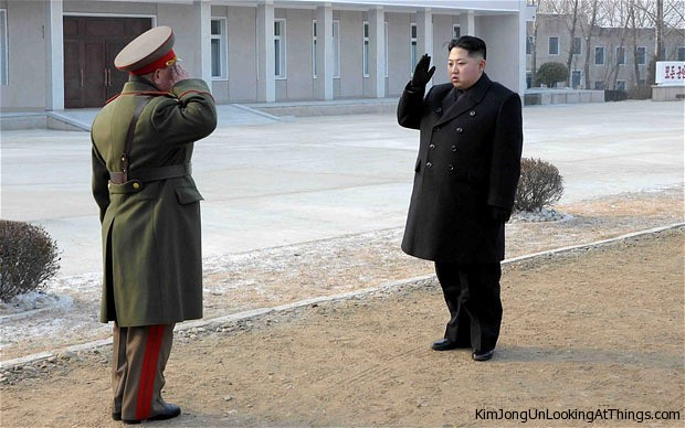 kim jong un looking at general