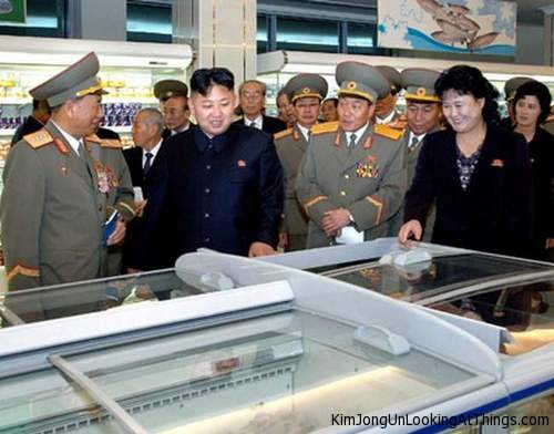 kim jong un looking at freezer