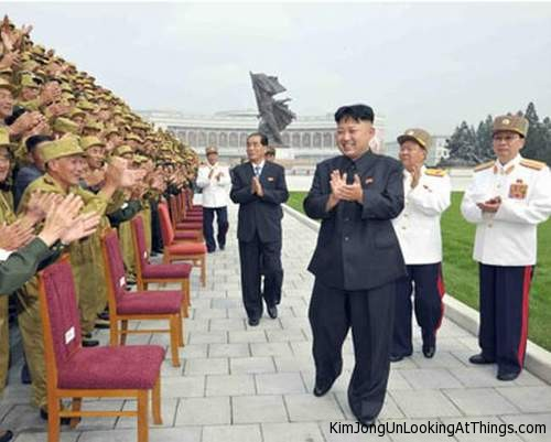 kim jong un looking at chairs