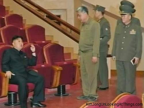 kim jong un looking at movie