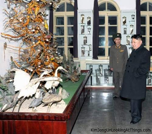 kim jong un looking at muesume