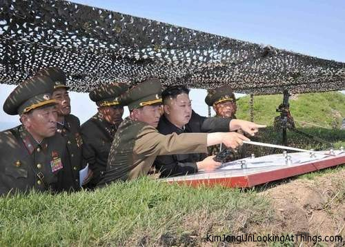 kim jong un looking at south korea