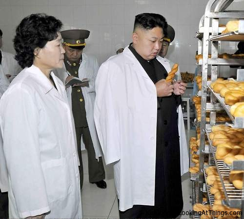 kim jong un looking at bread