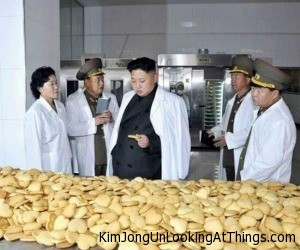 kju looking at cookie
