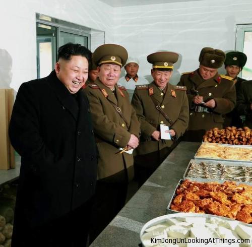 kim jong un looking at cheese