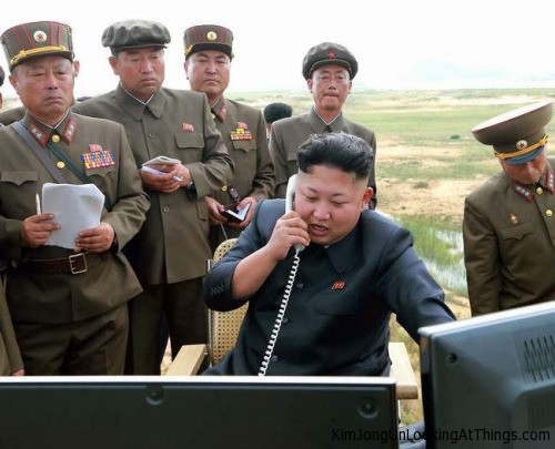 kim jong un looking at drone data