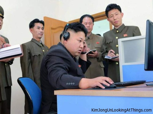 kim jong un looking at video game