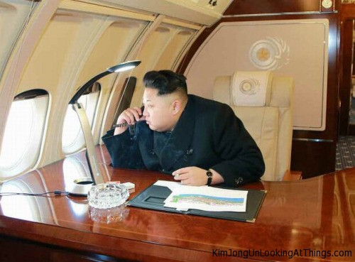 kim jong un on private plane